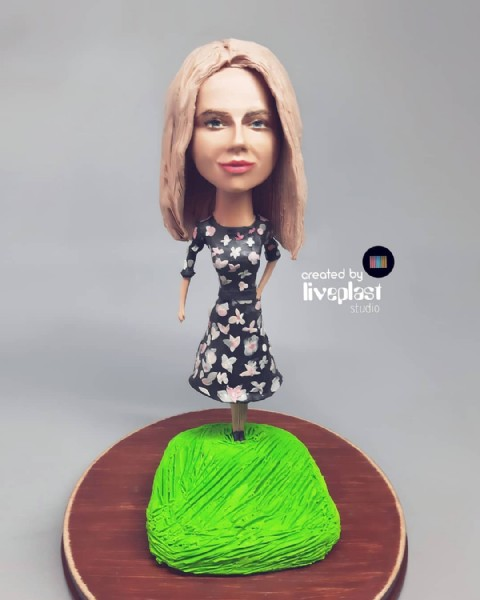 Photo by Alina_liveplast on June 11, 2021. May be an image of 1 person, cake and text that says 'created by liveplast plast studio'.