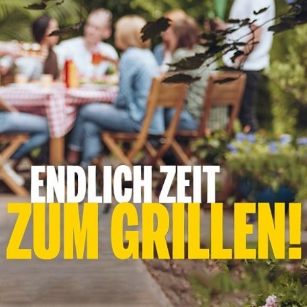 Photo by Medimax Weinheim on June 19, 2021. May be an image of one or more people, outdoors and text that says 'ENDLICH ZEIT ZUM GRILLEN!'.