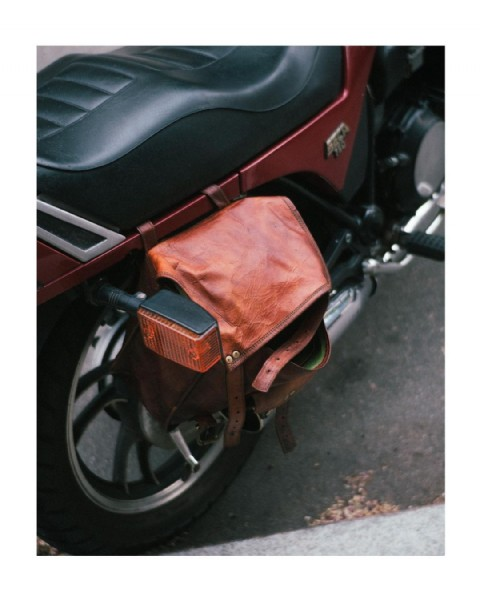 Photo shared by Troy Austin on August 02, 2021 tagging @fujifilmx_us. May be an image of motorcycle and saddle-stitched leather.