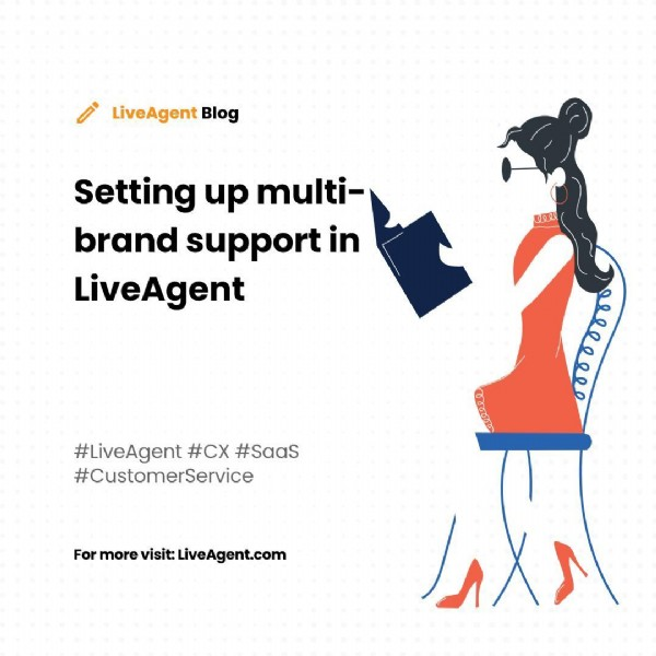 Photo by LiveAgent on June 16, 2021. May be an image of one or more people and text that says '0 LiveAgent Blog Setting up multi- brand support in LiveAgent wوeع #LiveAgent #Cx #SaaS #CustomerService For more visit: LiveAgent.com જഞ 网'.