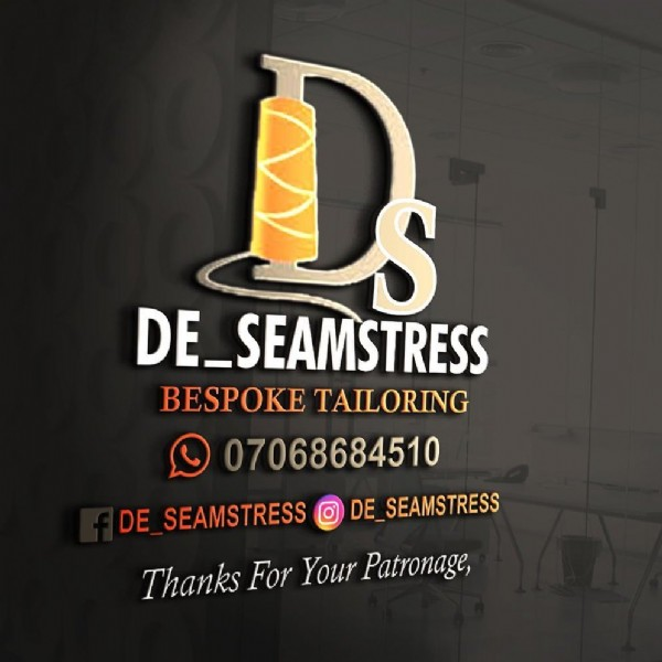 Photo by The_seamstress on June 08, 2021. May be an image of text that says 'O DE_SEAMSTRESS BESPOKE TAILORING 07068684510 DE SEAMSTRESS DE SEAMSTRESS Thanks For Your Patronage,'.