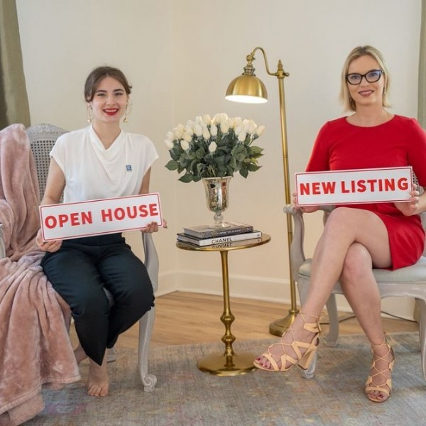 Photo by Real Estate with Irina Paul in Maitland, Florida with @evelina_rudenko. May be an image of 2 people, people standing, people sitting, indoor and text that says 'OPEN HOUSE NEW LISTING CHANFL'.
