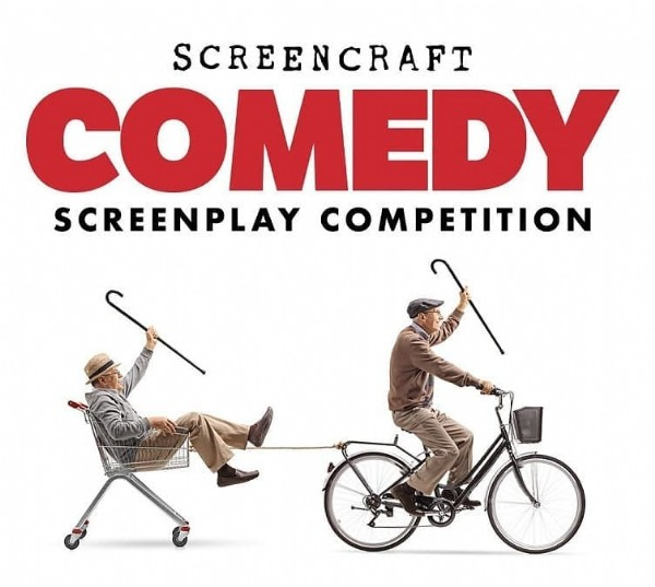 Photo by One Eye Wilde on June 09, 2021. May be an image of text that says 'SCREENCRAFT COMEDY SCREENPLAY COMPETITION'.