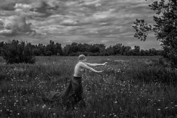 Photo shared by Marcin Sokołowski on June 23, 2021 tagging @lin.danilowicz. May be a black-and-white image of one or more people, grass and nature.