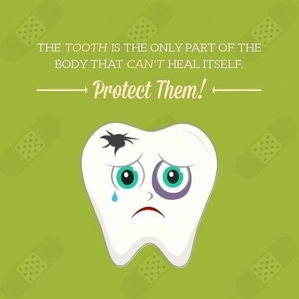 Photo by Lake Nona Dental Group in Lake Nona Dental Group, PLC. May be an image of text that says 'THE TOOTH IS THE ONLY PART OF THE BODY THAT CAN'T HEAL ITSELF Protect Them!'.