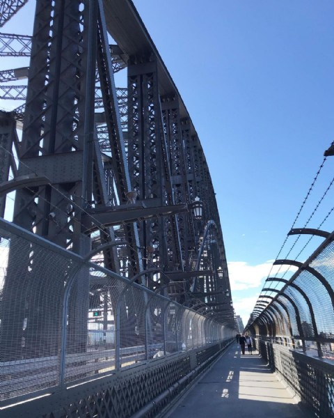 Photo by Tina Ngo in Sydney Harbour Bridge. May be an image of bridge.