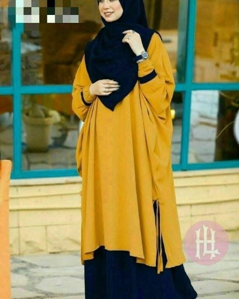 Photo by Family on line kids Fashion on July 20, 2021. May be an image of 1 person, standing and headscarf.
