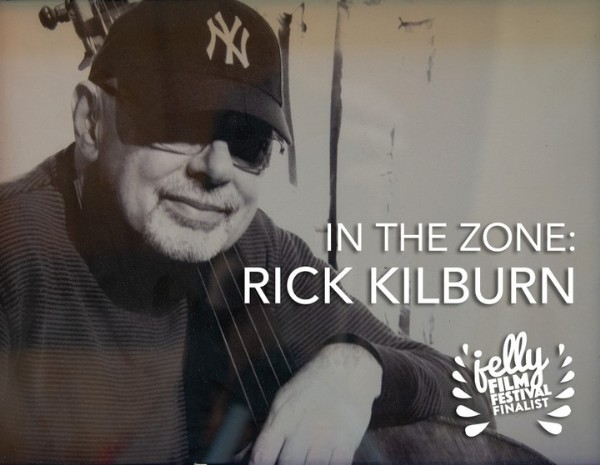 Photo by Indie Short Fest on June 16, 2021. May be an image of 1 person and text that says 'N IN THE ZONE: RICK KILBURN jelly TA FLITIVAL FESTIVAL FINALIST'.