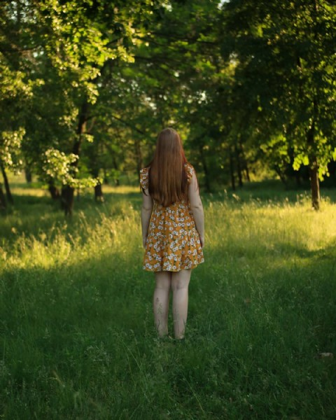 Photo by ANASTASIA | visual artist  on June 19, 2021. May be an image of child, standing, nature, grass and tree.