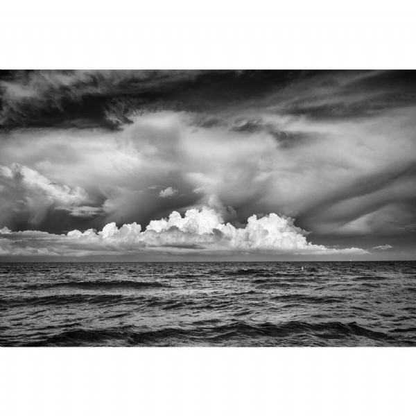 Photo by Jim Kostecky on June 20, 2021. May be a black-and-white image of ocean, cloud and nature.
