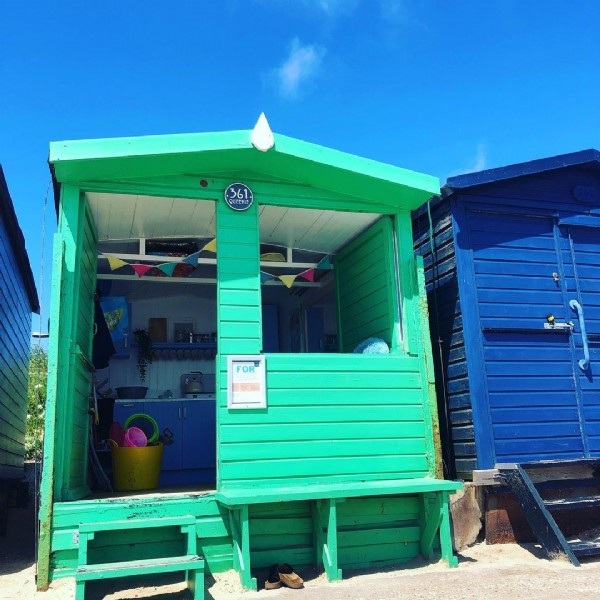 Photo by Walton on the Naze Beach Huts in Walton-on-the-Naze. May be an image of outdoors.