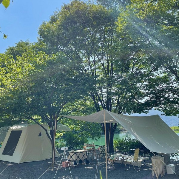 Photo by @__song__vely__ on May 24, 2021. May be an image of campsite, tree and outdoors.