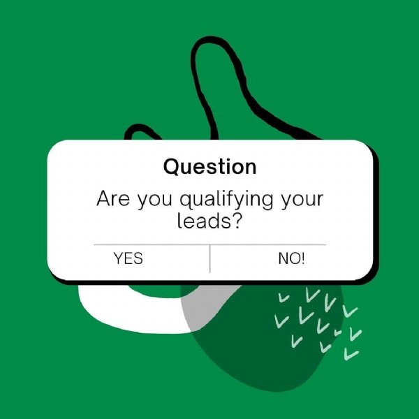 Photo by Business & Sales Coach on June 23, 2021. May be an image of text that says 'Question Are you qualifying your leads? YES NO!'.