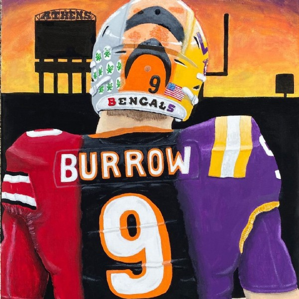 Photo by KB Art on June 23, 2021. May be an illustration of text that says '9 BENCALS BURROW 9'.
