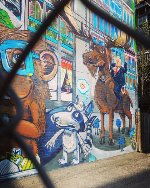 Photo by Aakriti in Graffiti Alley. May be an image of brick wall.