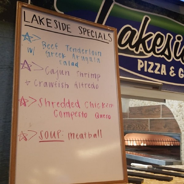 Photo by Lakeside Pizza & Grill in Lakeway, Texas.