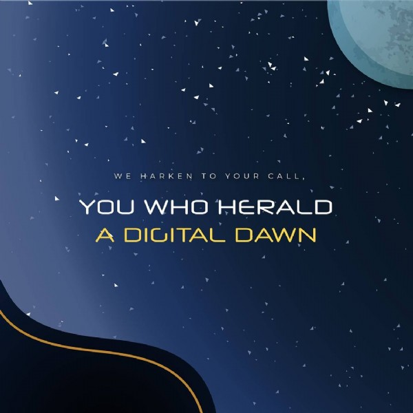 Photo shared by Vega Student Awards on May 27, 2021 tagging @iaaawards, @musedotworld, and @vegaawards. May be an image of text that says 'HARKEN Û, TO YOUR CALL YOU WHO HERALD A DIGITAL DAWN'.