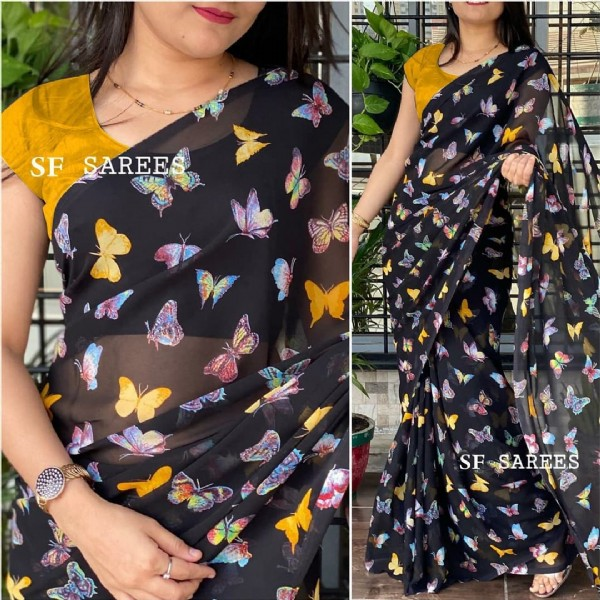 Photo by NitaraFashion2020  on July 28, 2021. May be an image of one or more people, people standing and text that says 'SF SAREE SF SAREES'.