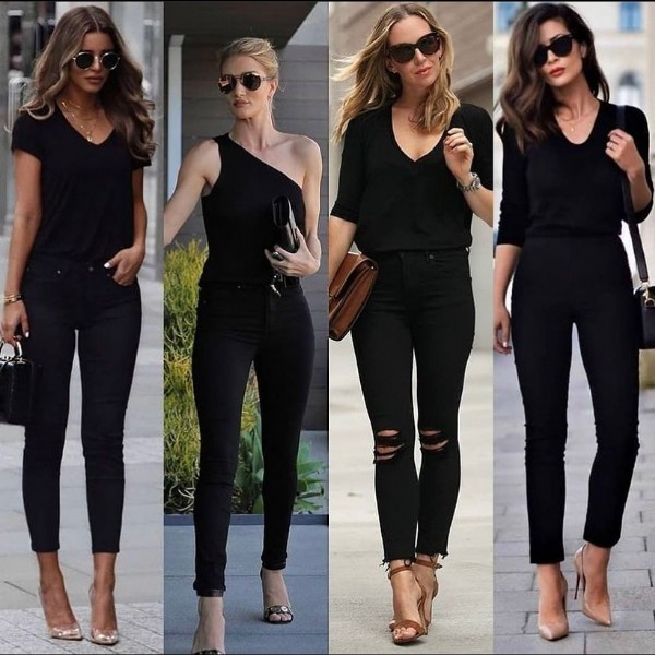 Photo by ModaAlternativaOficial on June 06, 2021. May be an image of 4 people, people standing, sunglasses and high-heeled shoes.