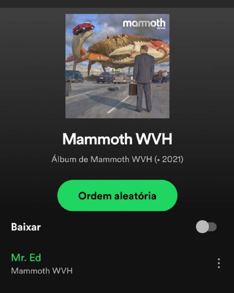 Photo by oswaldomarques on June 11, 2021. May be an image of standing and text that says 'mamoth WVH Mammoth WVH Álbum de Mammot Ál2021) WVH 2021 Ordem aleatória Baixar Mr. Ed Mammoth WVH'.