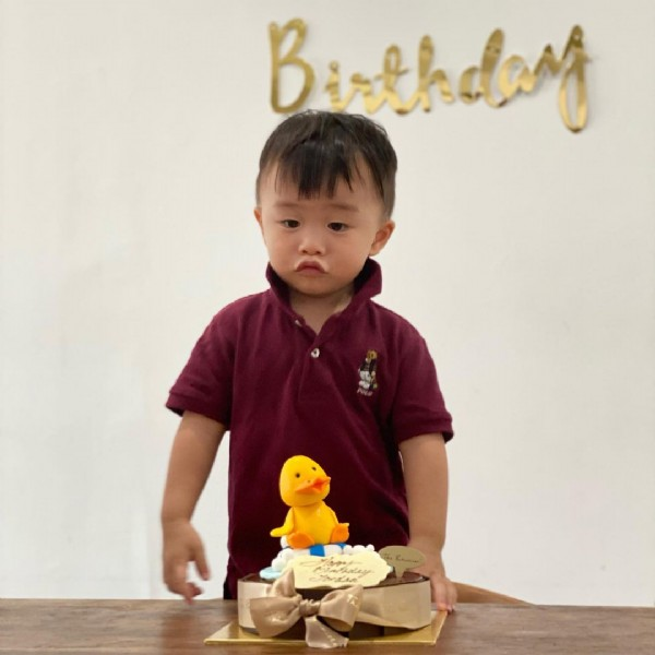 Photo by Jordan Lee on July 27, 2021. May be an image of 1 person, child, cake, indoor and text that says 'Birthday'.