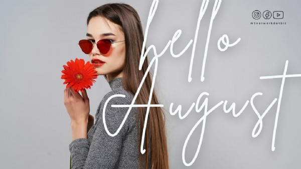 Photo by Bisnis Oriflame on August 01, 2021. May be an image of 1 person, sunglasses, flower and text.