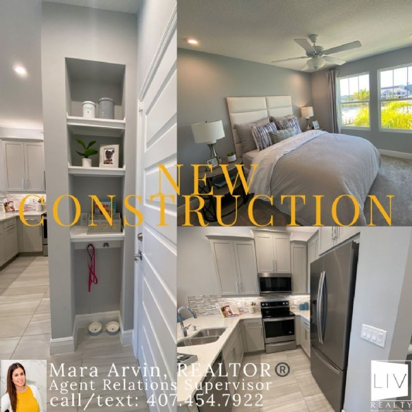 Photo by Mara Arvin, Realtor®️ on May 20, 2021. May be an image of 1 person, indoor and text that says 'NEW CONSTRUCTION Mara Arvin, EALTOR Agent Relations upervisor call text: 407.454.7922 1.7922 LIV'.