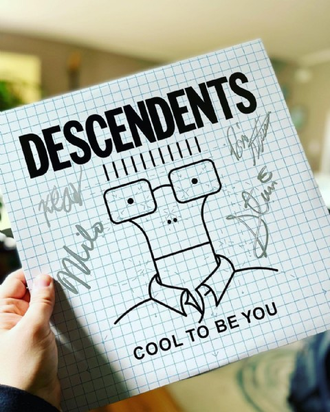 Photo by @vinylintheheartofjersey in Woodbridge, New Jersey with @instavinyl, @fat_wreck, @stephenegerton, @vinylcollection, @discogs, @descendents, @instahifi, and @miloaukermangrabbinghisass. May be an image of text that says 'DESCENDENTS DESCENDENTS COOL TO BEYOU COOLTYO BE YOU'.