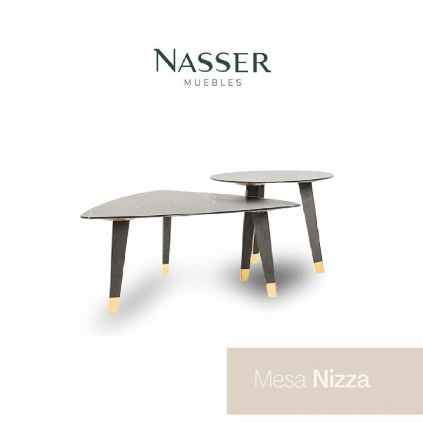 Photo by Nasser Muebles on June 17, 2021. May be an image of table and text that says 'NASSER MUEBLES Mesa Nizza'.