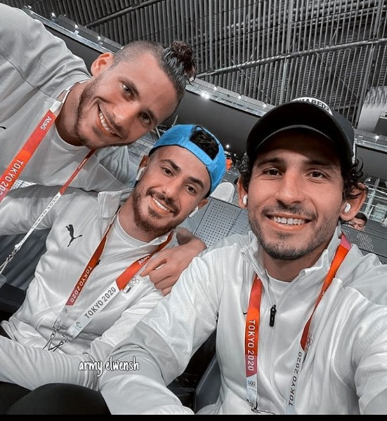 Photo shared by ℴ   on July 29, 2021 tagging @ahmedhegazy6, @mahmoudhamdy_28, and @ramadansobhi51. May be an image of 3 people and people standing.