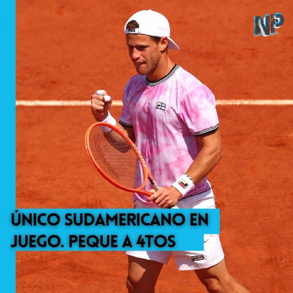 Photo by Nuestra Pasión on June 07, 2021. May be an image of 1 person, playing tennis and text.