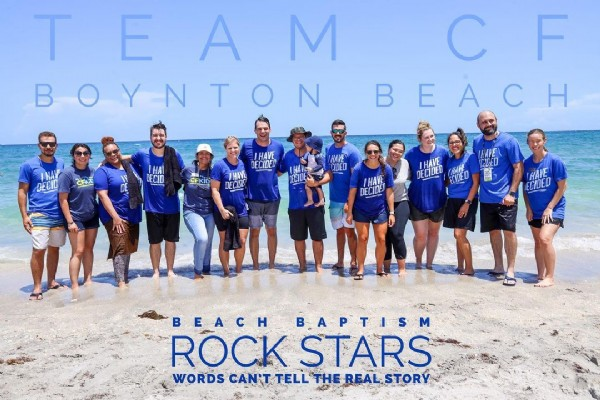 Photo by @joe_dan_photart on August 02, 2021. May be an image of 13 people, people standing, outdoors and text that says 'TEAM F BOYNTON BEACH DECID CFKID DECID HAVE DECIDED CFKID HAVE CIDED DECIDED HAVE ECIDED BEACH BAPTISM ROCK STARS WORDS CAN'T TELL THEES'.