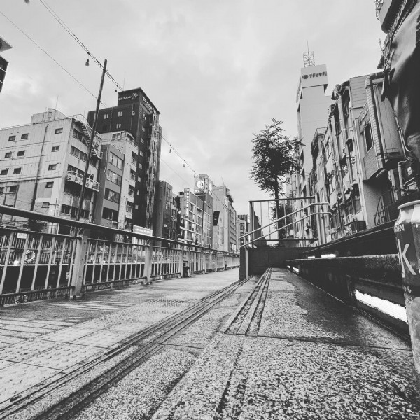 Photo by SAIN on June 19, 2021. May be a black-and-white image of street.