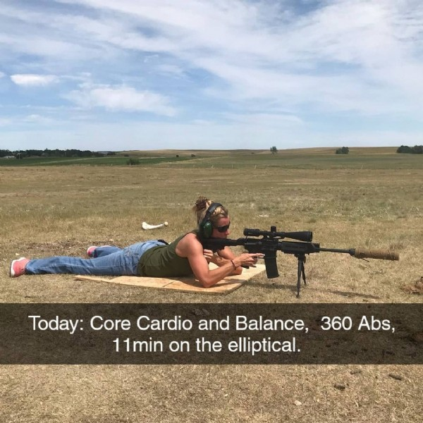 Photo by Melanie Sinkie McCavish on June 19, 2021. May be an image of one or more people, outdoors and text that says 'Today: Core Cardio and Balance, 360 Abs, 11min on the elliptical.'.