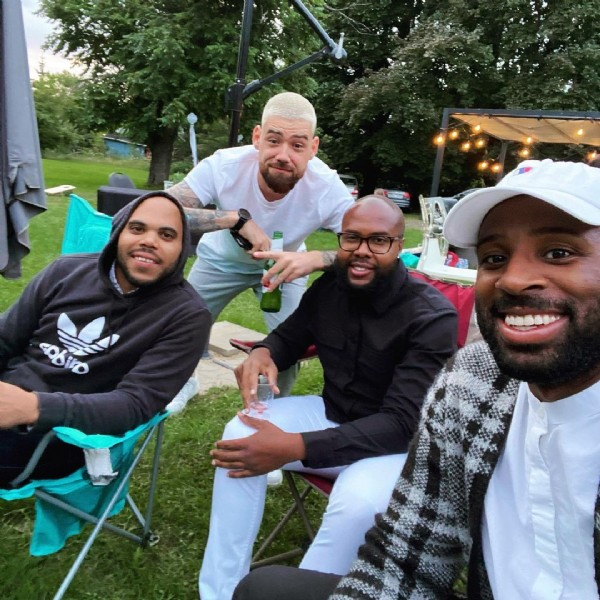 Photo shared by Mike Bugatti on August 01, 2021 tagging @charly_charles, @maxmax20100, and @pipo_bauge. May be an image of 4 people, people sitting and outdoors.
