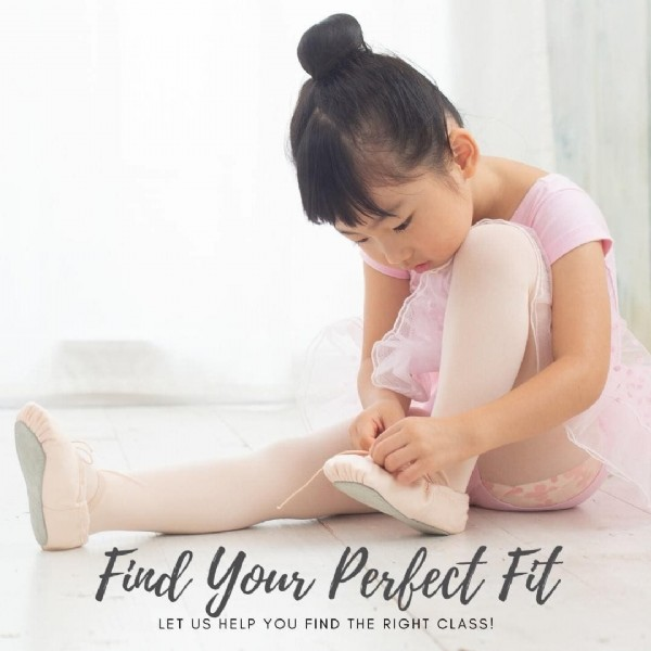 Photo by Encore Dance Studio on May 27, 2021. May be an image of child and text that says 'Find your Perfect Fit LET US HELP YOU FIND THE RIGHT CLASS!'.