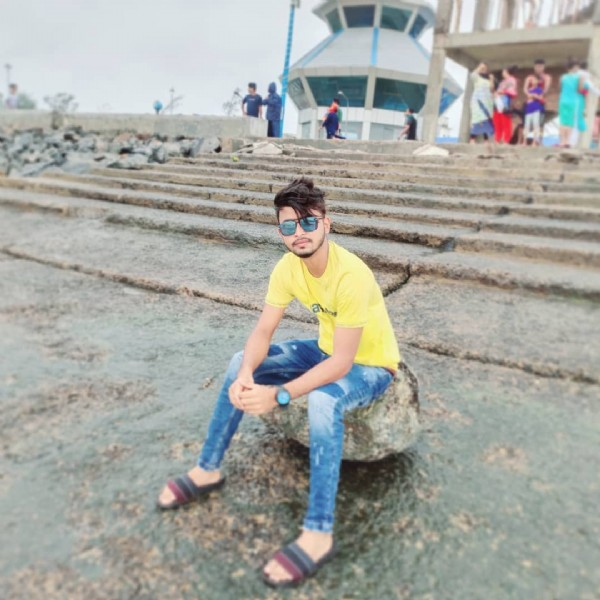 Photo by Sk SurAj in Old Digha Sea Beach with @sk_suraj_official922. May be an image of one or more people, people standing, footwear, sunglasses and sky.