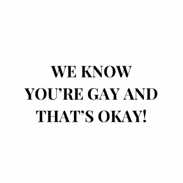 Photo shared by Quotes from Ugly Betty on June 23, 2021 tagging @markindelicato, @adamrodriguez, @therealanaortiz, @americaferrera, @michaelurielikesit, @jonkinnally, @tony.plana, and @tracylpoust. May be an image of text that says 'WE KNOW YOU'RE GAY AND THAT'S OKAY!'.