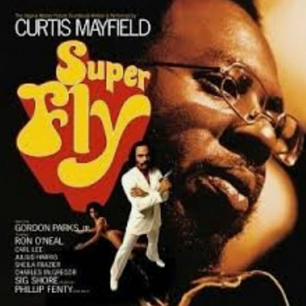 Photo by Jewell Murray on June 10, 2021. May be an image of 1 person and text that says 'CURTIS MAYFIELD Super Fly'.