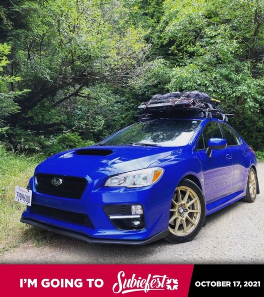 Photo by 【Logan】 on August 02, 2021. May be an image of car, outdoors and text that says '7yBH600 I'M GOING TO Subiefest OCTOBER 17, 2021'.