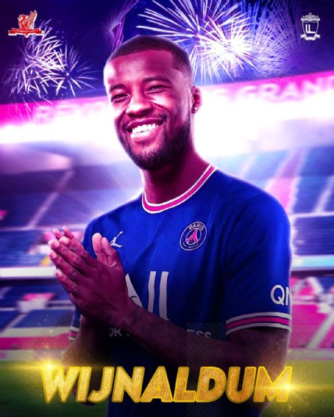 Photo by MrDesigner TEAM on June 06, 2021. May be an image of 1 person and text that says 'WIJNALDUM'.