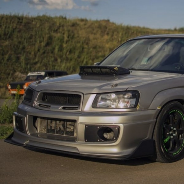 Photo by Subaru tuning manufacture on June 22, 2021. May be an image of car and road.