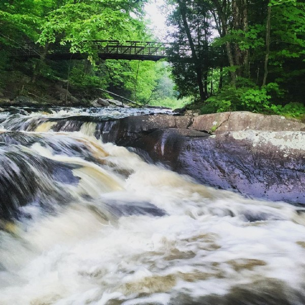 Photo by Lisa in Arrowhead Provincial Park. May be an image of nature and waterfall.