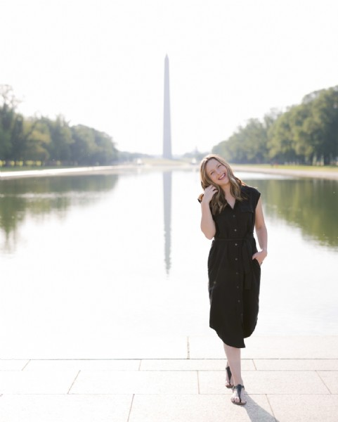 Photo by Brand & Wedding Photographer in Lincoln Memorial. May be an image of 1 person, standing, outdoors and monument.