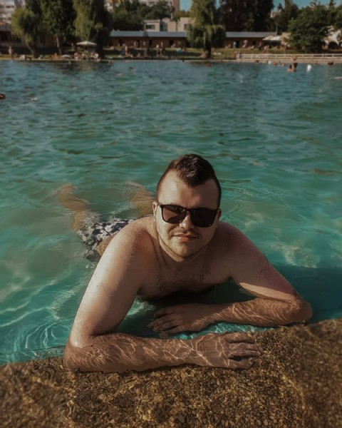 Photo by Vovan in Koupaliště Lhotka. May be an image of 1 person, standing and pool.