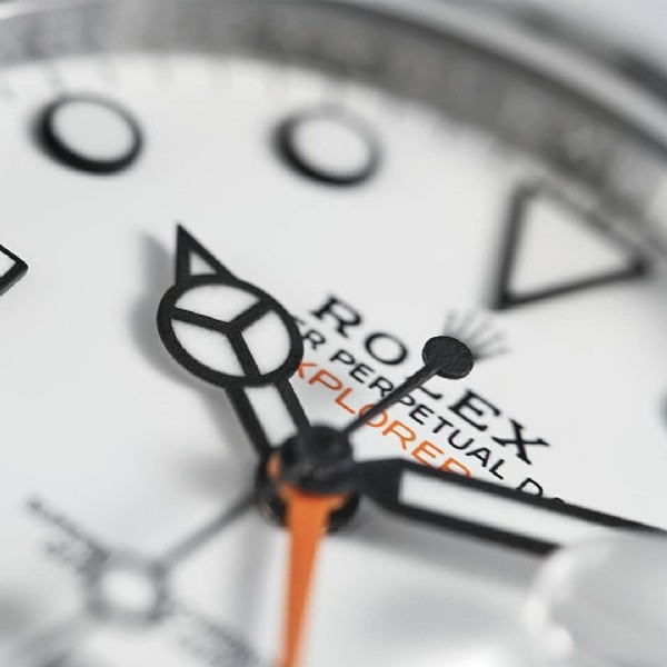 Photo shared by Juwelier Kamphues GmbH on May 03, 2021 tagging @rolex, and @juwelierkamphues. May be a closeup of wrist watch and text that says 'ROLEX R PLORED ETUAL EX KPL RO PER'.