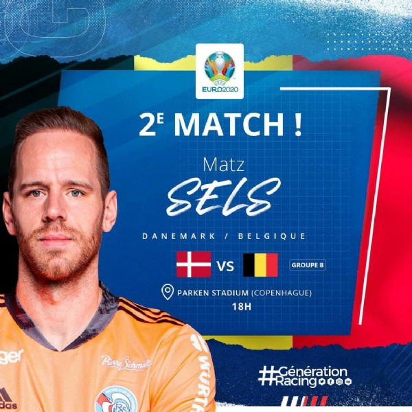 Photo by RCSA in Parken Stadium, Copenaghen with @belgianreddevils, and @matzsels. May be an image of 1 person and text.