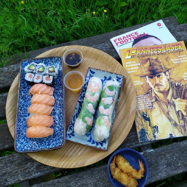 Photo by mr fawlty in Seine-et-Marne. May be an image of 1 person, sushi and text.