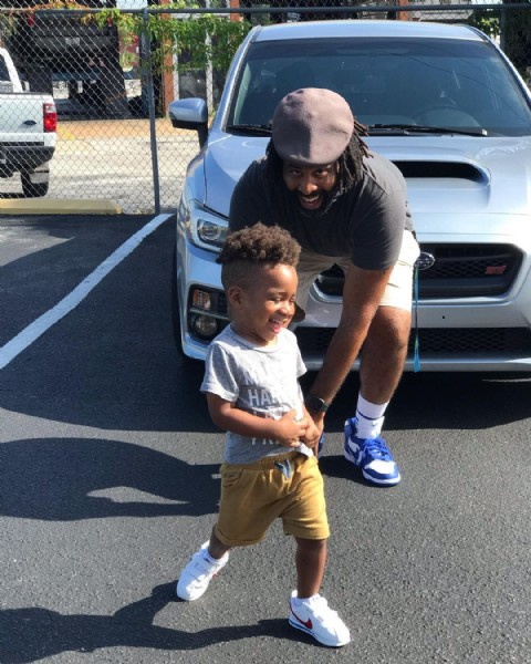 Photo shared by Kairo Jones on August 02, 2021 tagging @nike, @nikesb, @subaru_usa, @autismspeaks, @mz_tina_2u, @cfldreamplex, @subaru.tecnica.international, @sensoryplaymatters, @kangol, and @autism_sketches. May be an image of 2 people, child, people standing, footwear and outdoors.